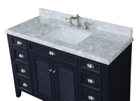 "50""  Shutter Blinds Kalani Single Sink Bathroom Sink Vanity - YR3028NB50"