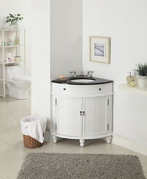 "24"" Thomasville Corner Shape Bathroom Sink Vanity  # CF-47533GT - Chans Furniture - 2"