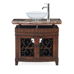 "36"" Benton Collection unqiue Artturi Vessel Sink Bathroom Vanity  Model # Q226BN"