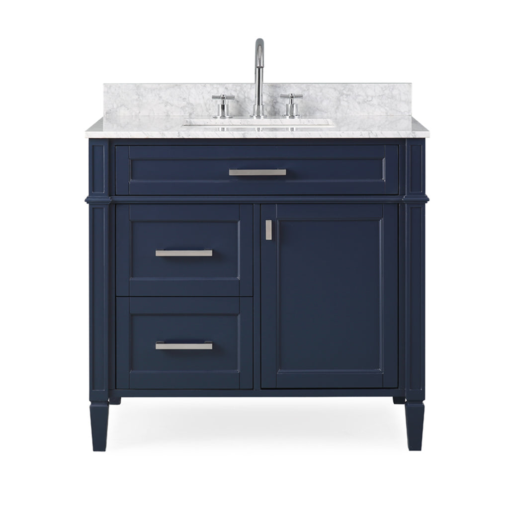 36'' Tennant Brand Durand Modern Navy Blue Bathroom Sink Vanity ZK-1808-V36NB