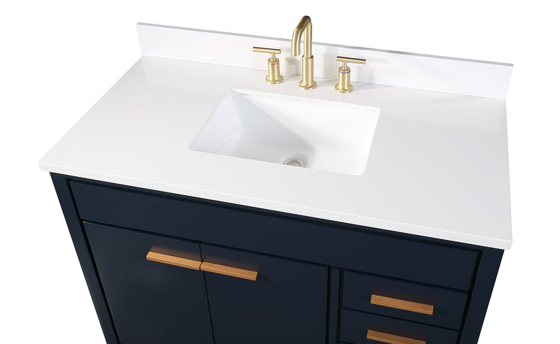 "42"" Tennant Brand Beatrice Navy Blue Modern Bathroom Sink Vanity TB-9444NB-V42"