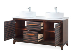 "63"" Tennant Brand Arturas double sinks Sink bathroom vanity - TB-9466-V63"