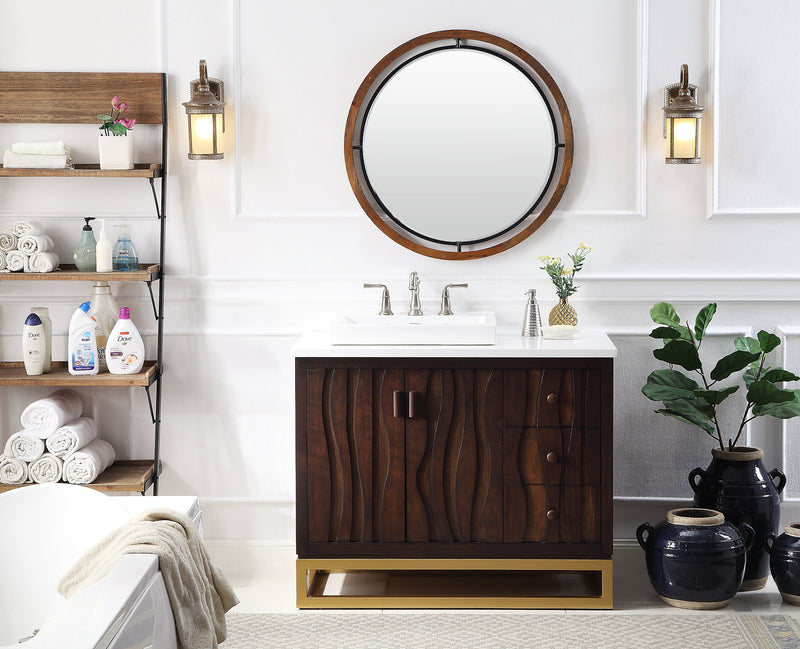 "42"" Tennant Brand Catalanes Modern Contemporary Bathroom Sink Vanity Cabinet  - TB-9655-42"