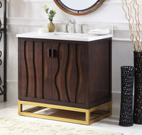 "37"" Tennant Brand Catalanes Modern Contemporary Style Bathroom Sink Vanity Cabinet  - TB-9660"