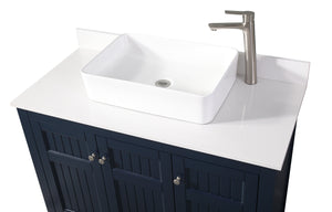 "42"" Benton Collection Thomasville Casual Style Vessel Sink Bathroom Vanity ZK-77333NB"