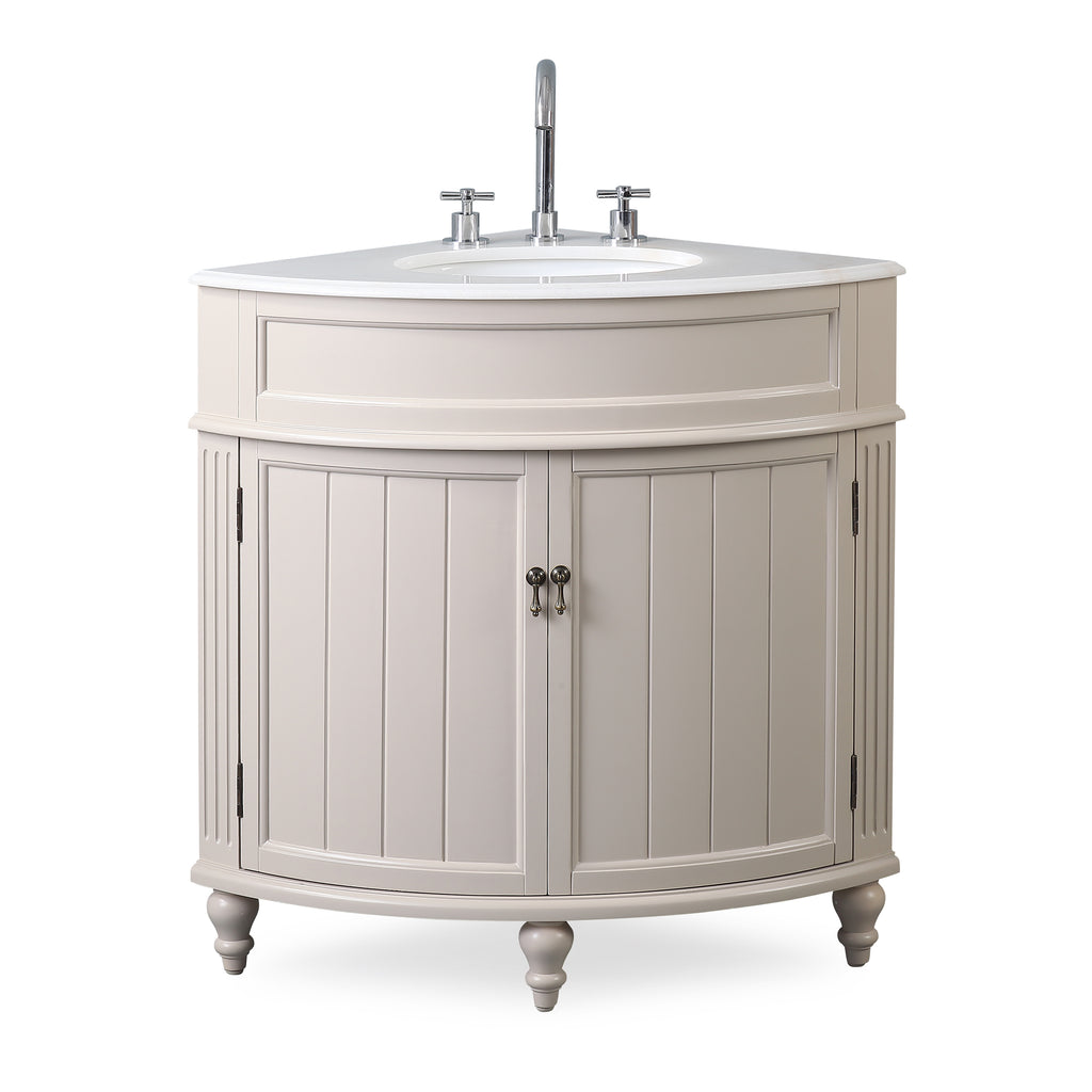 "24"" Benton Collection Thomasville Taupe Color Bathroom Sink Vanity - ZK-47599TP"