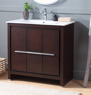"36"" Tennant Brand Modern Style Bathroom Sink Vanity ZK-8033-Z36 Preston"