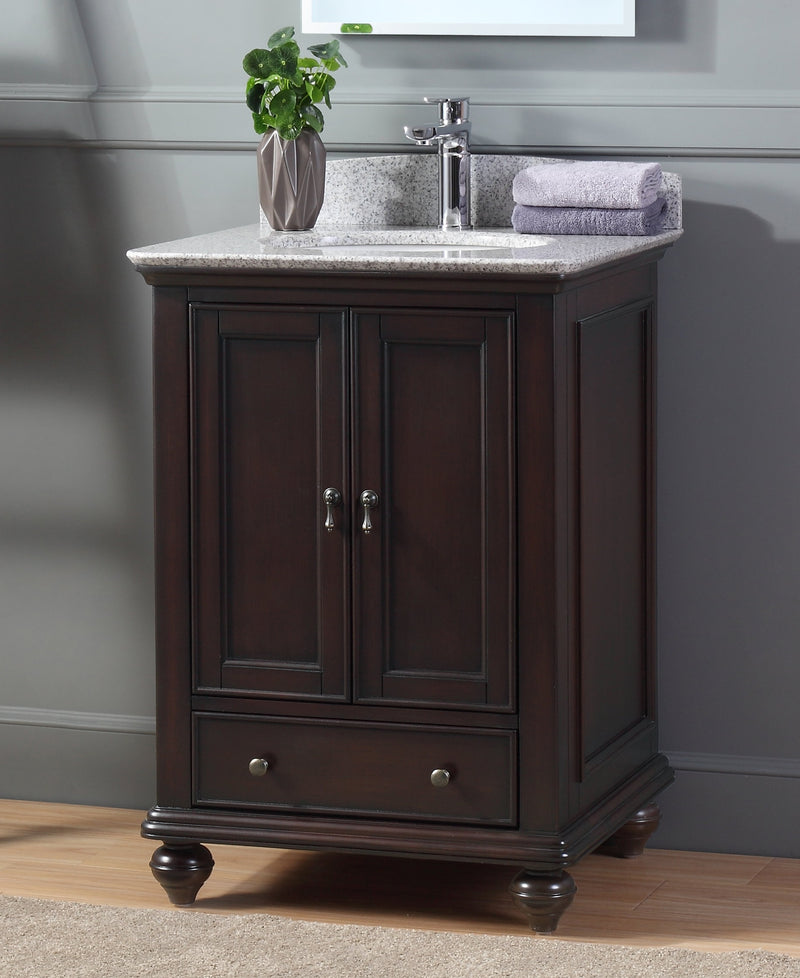 "25"" Tennant Brand Gillian Powder Room Brown Bathroom Vanity 9805TK"