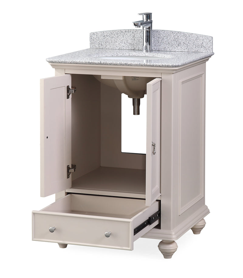 "25"" Tennant Brand Gillian Powder Room Taupe Bathroom Vanity 9805TP"