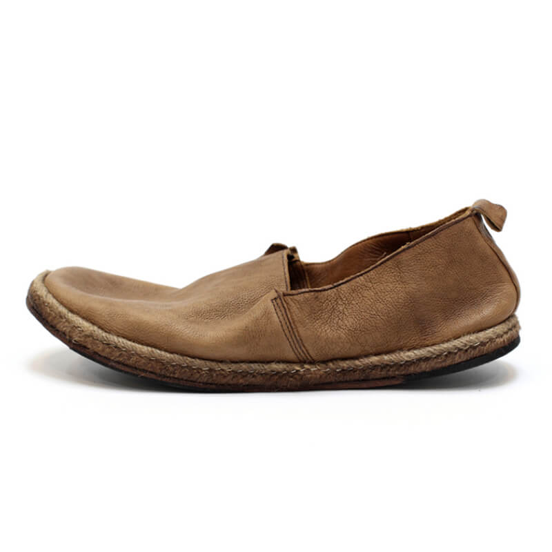 Men Handmade Brush-off Casual Leather Loafers