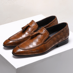 Men Handmade Tassel Leather Loafers