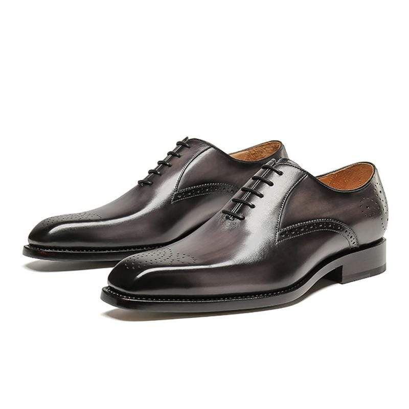Leather Bullock Carved Men's Shoes Casual Formal Oxford Shoes