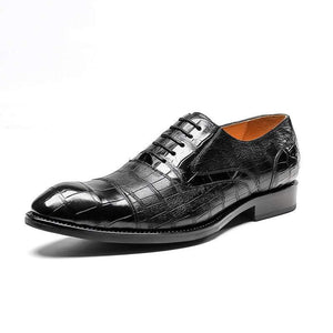 Crocodile Pattern Leather Shoes Men's Dress Shoes