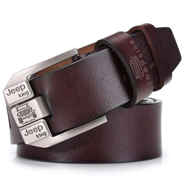 Men 's Casual vintage Pin Buckle Cow Leather Belt