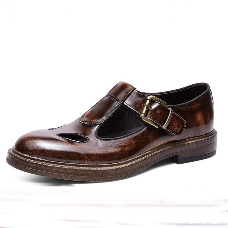 Vintage Men's Hollow Roman Leather Shoes