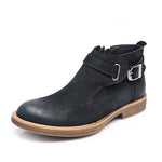 Men's Vintage Handmade Leather Boots Motorcycle Boots British Style Boots