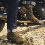 Men's Calf Leather Motorcycle Boots