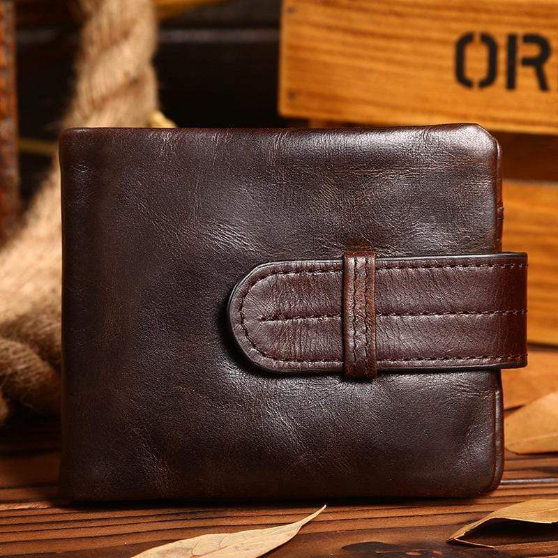 Men's Cowhide Vintage Business Wallet