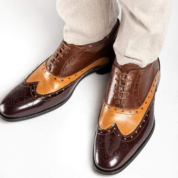 Men's Calf Brogue Oxford Shoes