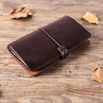 Men Handmade Leather Travel Wallet