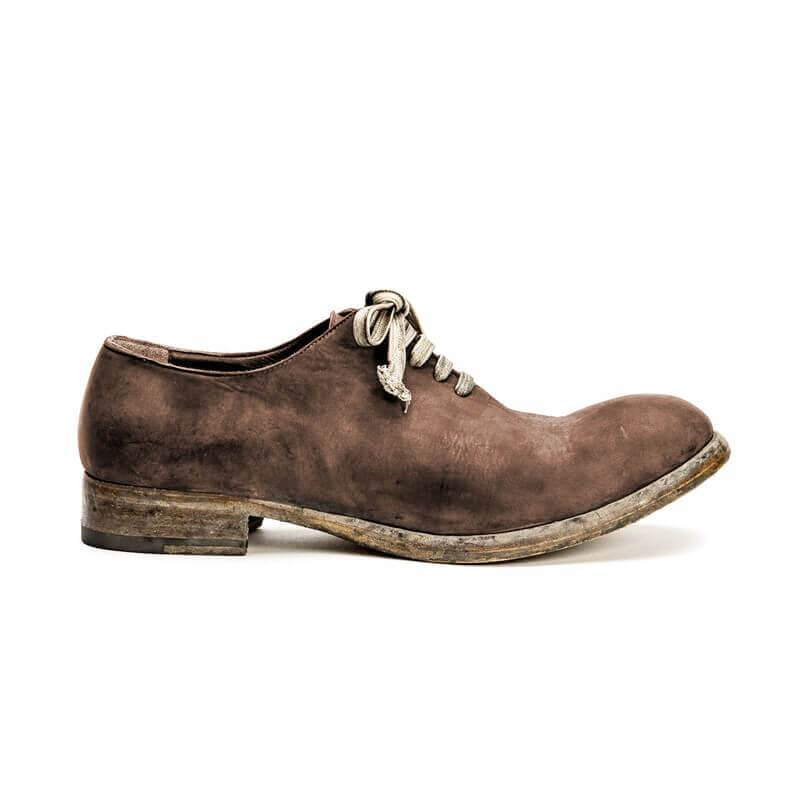 Handmade Distressed Leather Lace-up Shoes