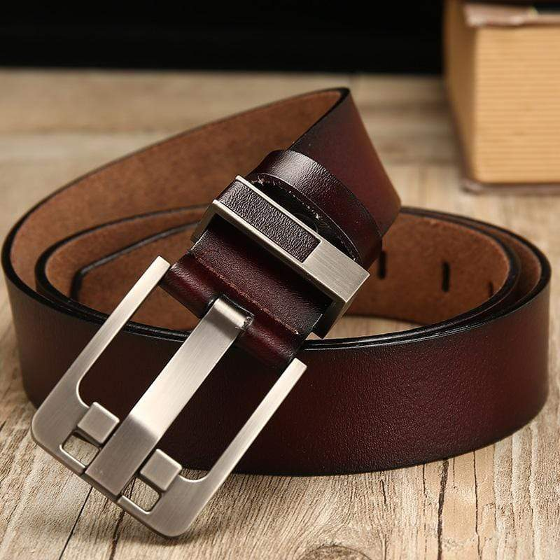 Male Genuine Leather Strap Luxury Pin Buckle Belts For Men