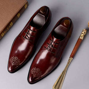Vintage Oil Wax Leather Shoes
