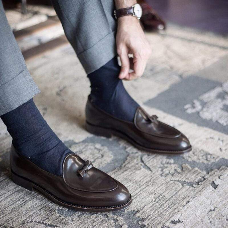 Men's Leather Soft Bownot Loafers