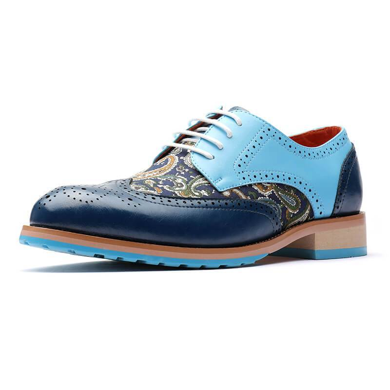 Men's Vintage Splicing Derby Shoes