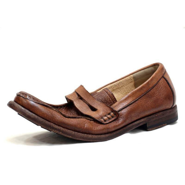 Men Handmade Vintage Leather Loafers