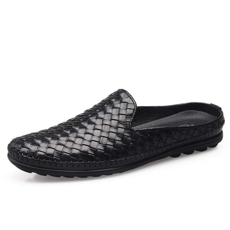Men Leather Handmade Soft Slippers