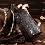 Crocodile Leather Oil Wax Chest Bag