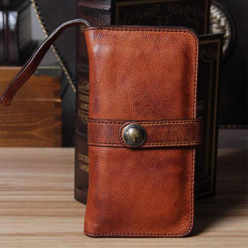 Men's Vintage Long Wallet