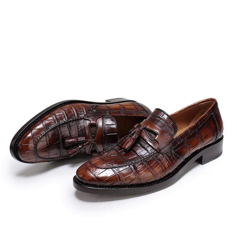 Retro Crocodile Leather Shoes