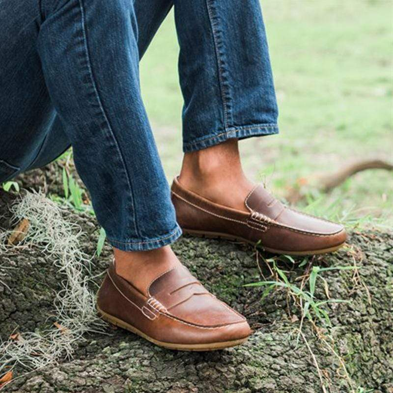 Full-grain Leather Men's Comfortable Loafers