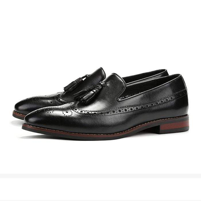 Real Leather Tassel Loafer