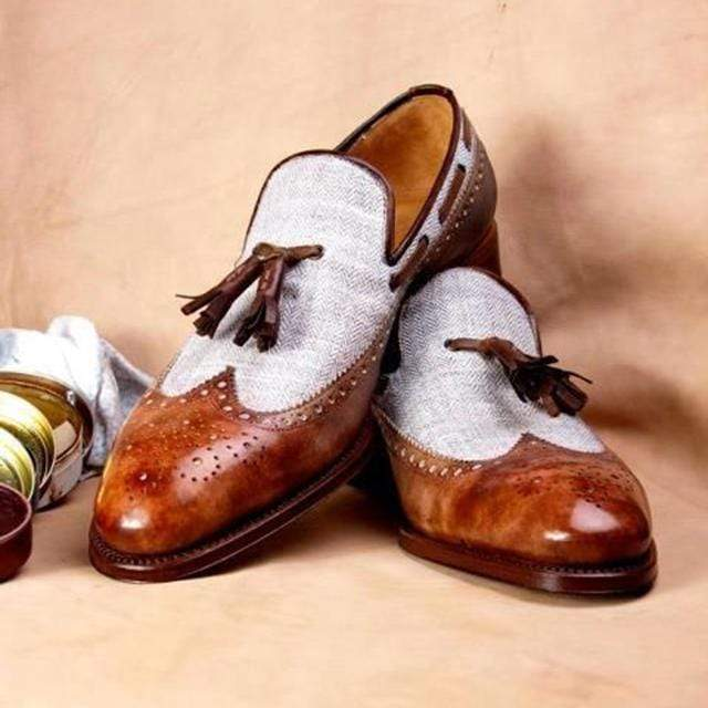 Genuine Leather Tassel Loafer