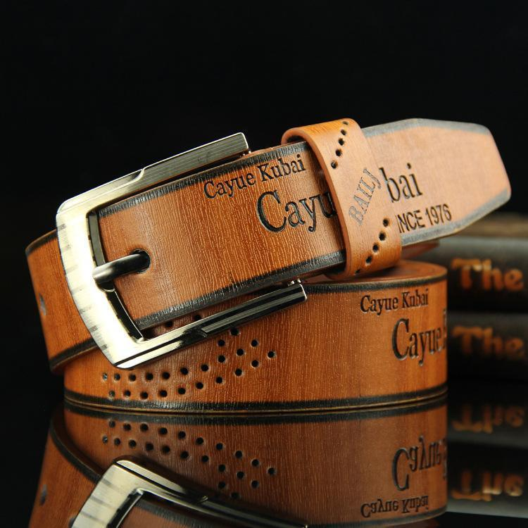 Men's Casual Vintage  Hollow Pin Buckle Belts