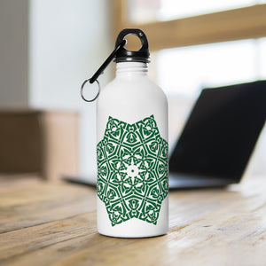 Green Mandala Water Flask