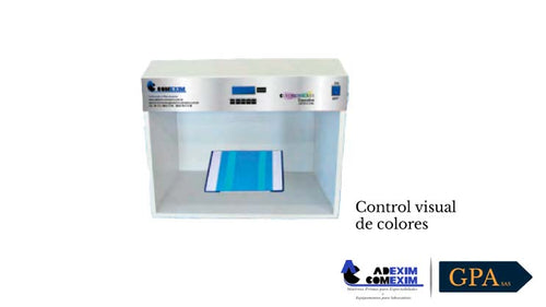 Control visual de colores de laboratorio