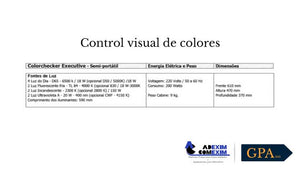 Control visual de colores de laboratorio ficha técnica