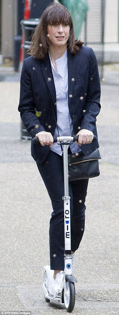 Samantha Cameron on her White Micro Scooter
