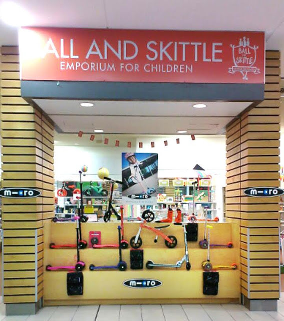 Ball and Skittle Emporium super Micro Scooter Stockist display