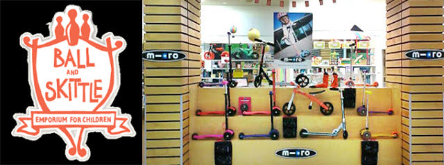 Ball and Skittle Super Micro Scooter Stockist