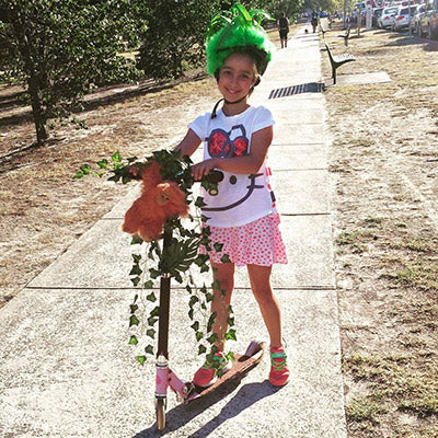 Jungle themed kids scooter dress up