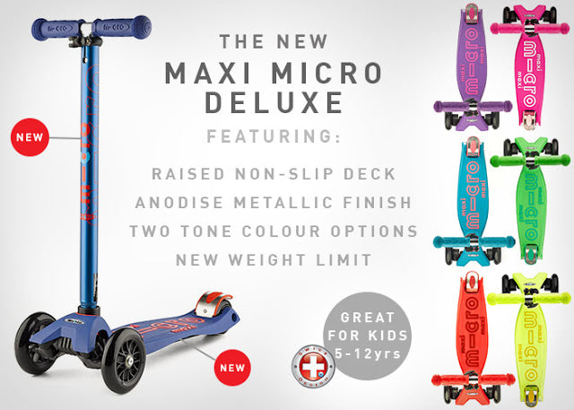 The new Maxi Micro Deluxe range features