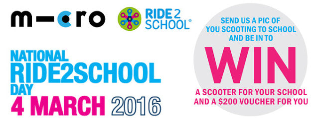 National Ride2School Day 2016, Friday March 4