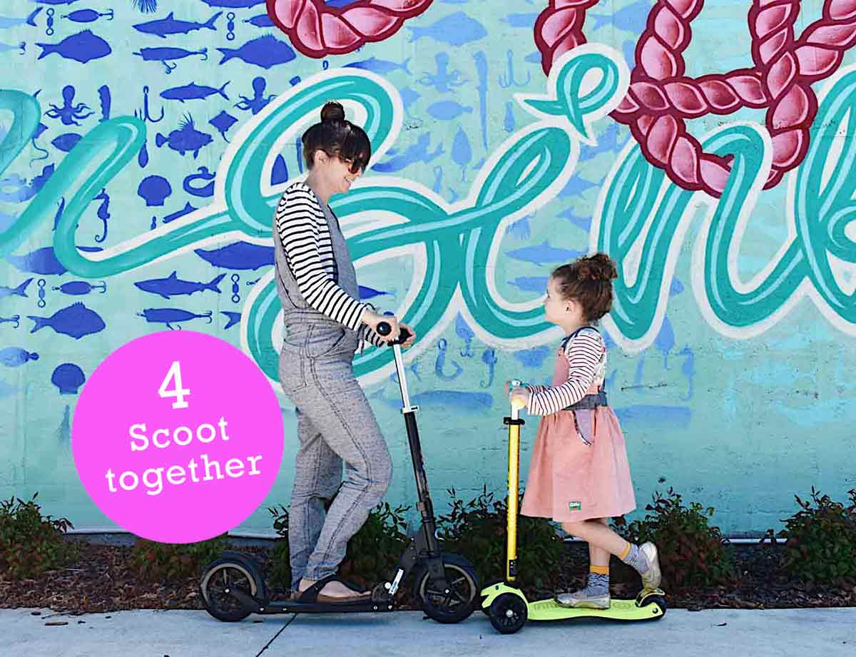 Scoot together