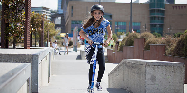 Scooting at the skate park is a great activity for kids