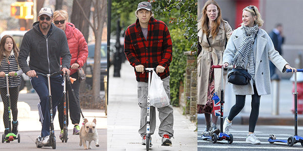 Celebrities on Micro Scooters